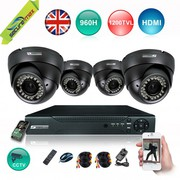 SecureMax 4 CHANNEL 1080P 960H DVR,  CCTV CAMERAS 4 KIT