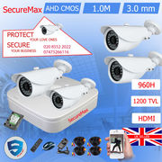 4 x HD Security Cameras Kit DVR Recorder with Hard Drive