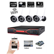 Refurbished 1080P 4 CH Wireless CCTV IP Camera Security HDMI DVR NVR S